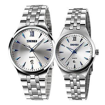 Casual Fashion 9071 Couple Watch Fashion Luminous Simple Lovers Quartz Wrist Watch