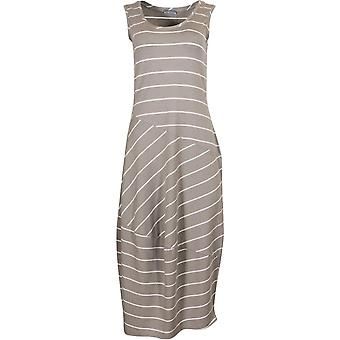 Naya striped midi dress