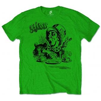 Genisis Mad Hatter Mens Green Tshirt: X Large