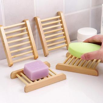 Soporte de bandeja de jabón de madera natural
