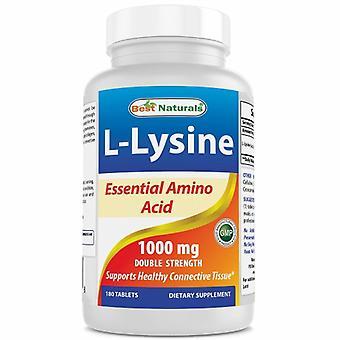 Best Naturals L-Lysine, 1000 mg, 180 Tabs