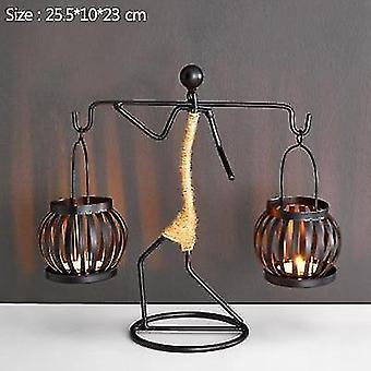 neue d Vintage Metall Kerze handgemachte Kerze Halter Kerze Dekor Miniatur sm37014