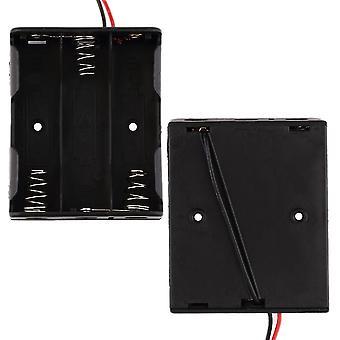 Battery Box Slot Holder Case For 3 Packs Standard Aa 1.5v Batteries