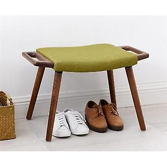 Dressing Stool Footrest Sofa Stool Shoes Fabric Upholstery Bench /footstool