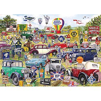 Gibsons Motoring Memorabilia Jigsaw Puzzle (1000 Pieces)