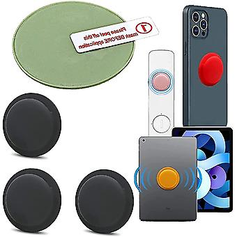 3 Pack Location Tracker Case Adhesive Protective Cover For Apple Airtag(Black)