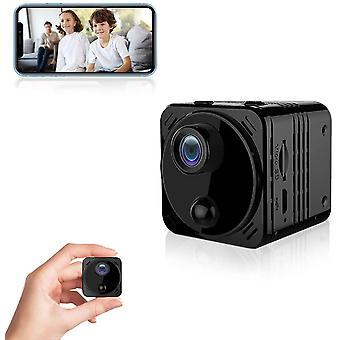 كاميرا الأمن المصغرة واي فاي اتصال الحقيقي عالية الوضوح 1080P مربية الكاميرا، مع وظيفة الرؤية الليلية الكشف عن الحركة (أسود)