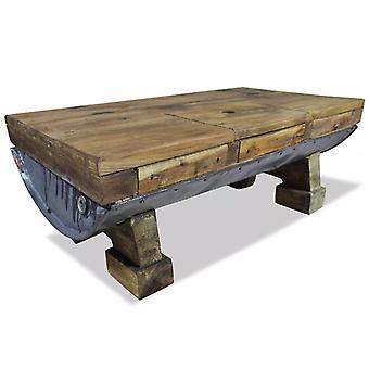 """שולחן קפה vidaXL עץ ממוחזר מוצק 90 x 50 x 35 ס""""מ"""