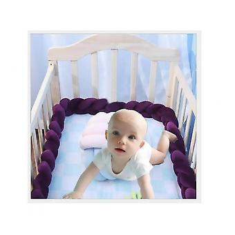 Baby Upholstery Woven Strip Knotted Ball Pillow Twist Braid Baby Bed Sleep Bumper
