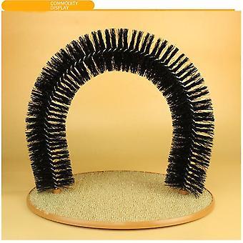 Pet Cat Massage Combs Arch Hair Grooming Scratcher Toy Self Groomer Toy Grooming