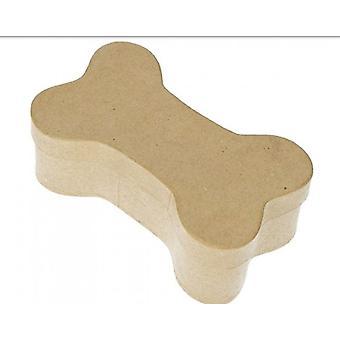 17cm Medium Bone Paper Mache muoto laatikko koristella   Papier Mache laatikot