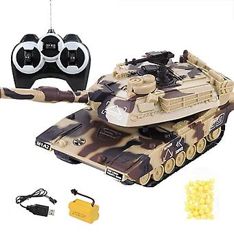 Military War Rc Battle Tank Heavy Large Interactive Remote Control Toy