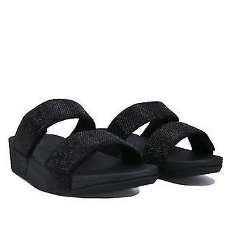 Women's Fit Flop Mina Crystal Slide Sandals in Black