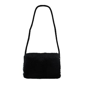 Faux Fur Hard Frame Evening Bag