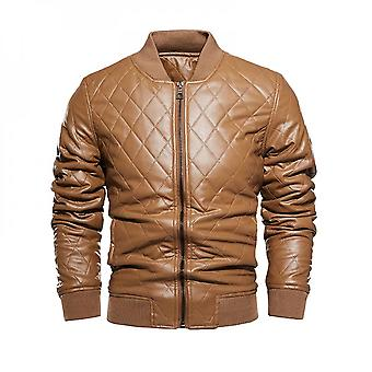 Leather Jacket With Prismatic Pattern Artificial Leather Us Size
