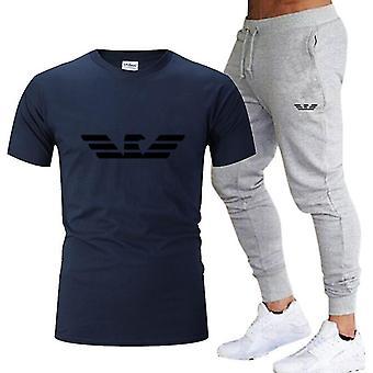Menins Sportswear- Running Jogging Fitness Vêtements Costume deux pièces