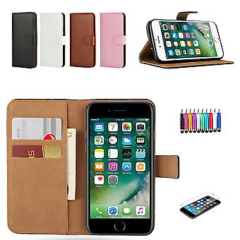 Iphone 7/8 - Custodia/Cover in pelle + Confezione 3 I 1