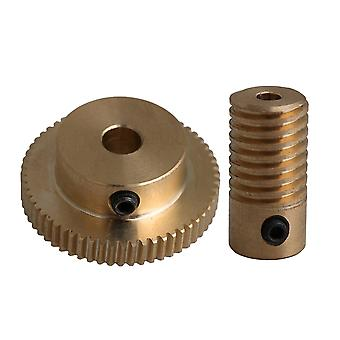 المحركات الكهربائية 0.5 معامل النحاس دودة رمح والعتاد 3.1cm od 60t النحاس دودة عجلة العتاد ppm-4134
