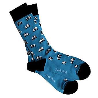 Swole Panda Herren Bambus Panda Socken - Blau