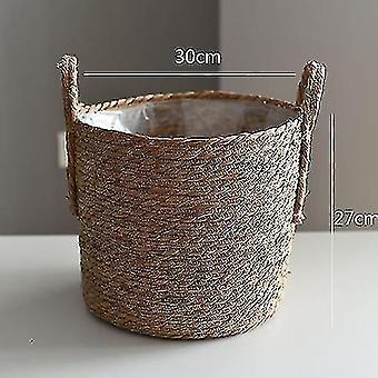 Baskets handwoven rattan storage basket for household and decor b