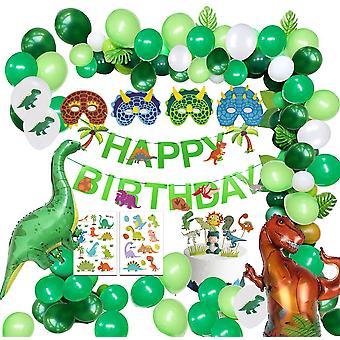 Dinosaurus aluminium film ballonnen jungle latex ballon voor kinderen verjaardagsfeest decor