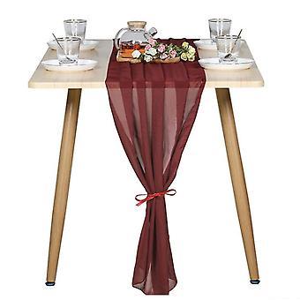 Chiffon Tischläufer romantische Hochzeit Braut Party Dekorationen