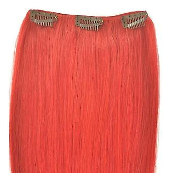 Red - Clip in Hair Piece - 18 inch - Bright Colours