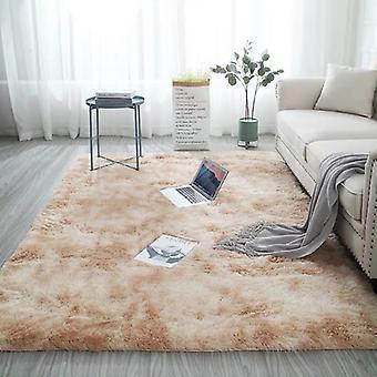 Shaggy Fluffy Area Teppich Anti-Rutsch Zimmer Teppich Weiche Fußmatte