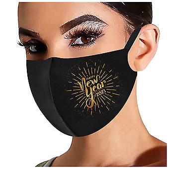 2021 Gott nytt år Vuxen Mode Tvättbar Återanvändbar förorening Täcka ansiktsmasker