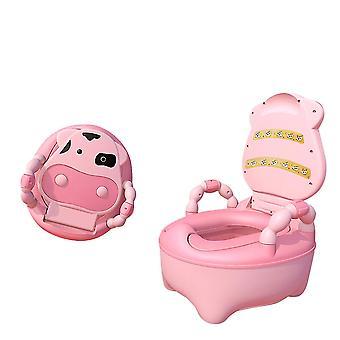 子供の男の子の女の子の快適な安全なトイレチェアのためのPuクッション幼児の便座付きのSofirnベビートイレトレーニング便座