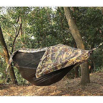 ハンモック耐候性、防風、砂、蚊帳オフザグラウンドキャンプハンモックテント統合サスペンション屋外レクリエーションキャンプ
