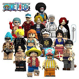 15pcs One Piece Luffy, Jobana Mesabo Robin Shanksbrook Assemblé Bloc de construction Figurine Jouet