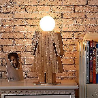 lys tre bordlampe