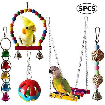 Pet Parrot rágó madár játék készlet 5 részes készlet