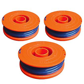 3 x Spool & Line Fits Flymo Revolution 2000 Single Line Strimmer Trimmer FL225