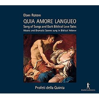 Rotem / Profeti Della Quinta / Rotem - Quia Amore Langueo - Song of Songs & Dark Biblical [CD] USA import