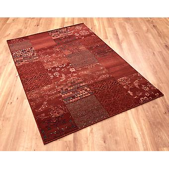 Kashqai 4327 300 Red Terra  Rectangle Rugs Traditional Rugs