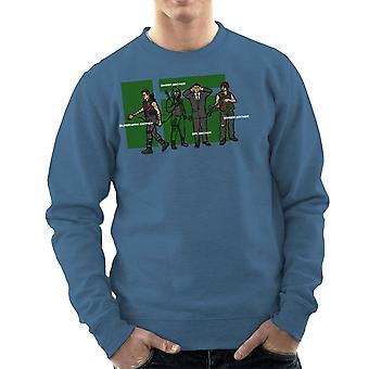 Archer Confusion Superhero Green Spy Zombie Men's Sweatshirt