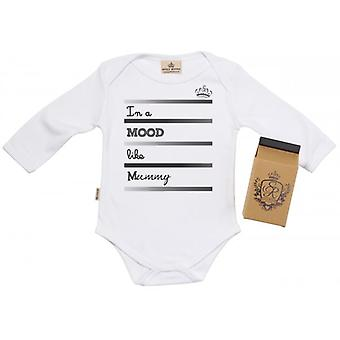 Spoilt Rotten Mood Like Mummy Baby Grow 100% Organic In Milk Carton