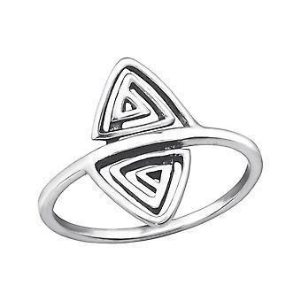 Triangolo - 925 Sterling Silver pianura anelli - W32287X