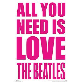 The Beatles - Love-Poster-Plakat-Druck