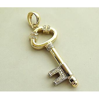 Gold-Diamant-Anhänger-Schlüssel