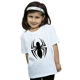 Marvel Girls Spider-Man Ultimate Spider logo T-shirt