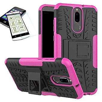 Hybrydowy 2 kawałek SWL przypadek różowy dla Huawei mate 10 Lite + hartowane szkło torba pokrywy obudowy