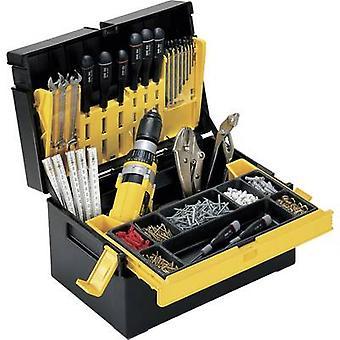 Alutec 56550 työkalu rasia (tyhjä) muovi musta, keltainen