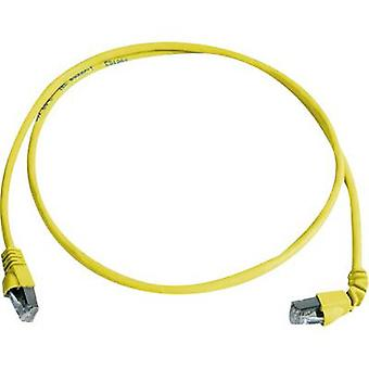 Telegärtner RJ45 L00002A0179 Network cable, patch cable CAT 6A S/FTP 3.00 m Yellow Flame-retardant, Halogen-free