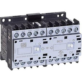 WEG CWCI09-10-30D24 Reversing contactor 6 makers 4 kW 230 V AC 9 A + auxiliary contact 1 pc(s)