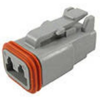 Conector de bala DT06-2S-C015 conectividad TE toma, serie recta (conectores): Número Total de despegue de pines: 2 1 PC