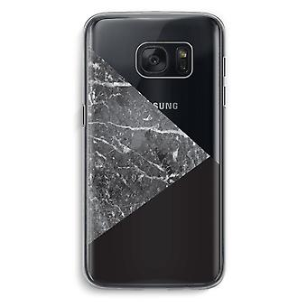 Samsung Galaxy S7 Transparent Case (Soft) - Marble combination
