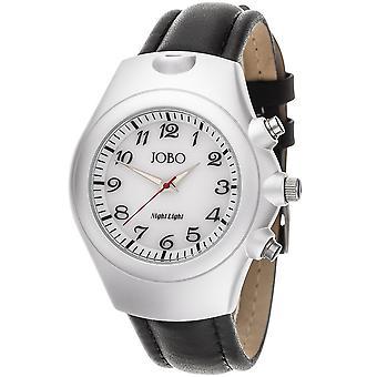 JOBO men's wristwatch quartz analog stainless steel aluminium leather men's watch